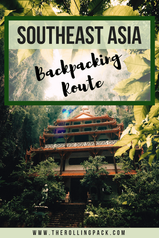 A Southeast Asia Backpacking Route