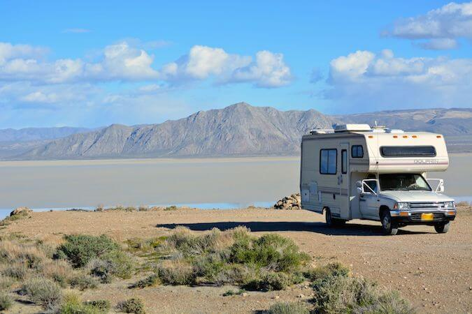 RV camped on BLM land