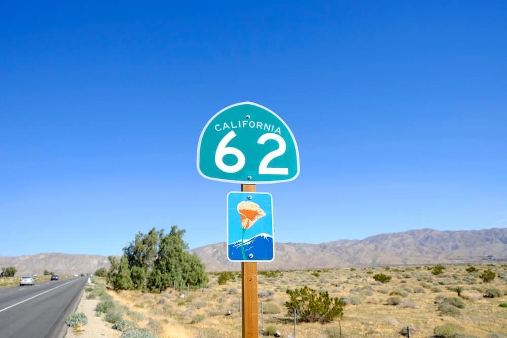 USA highway sign marker