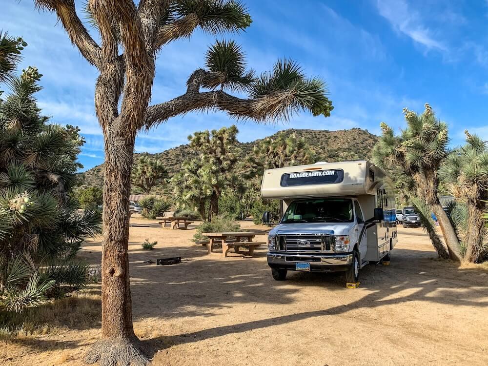 RV rental in USA desert campground