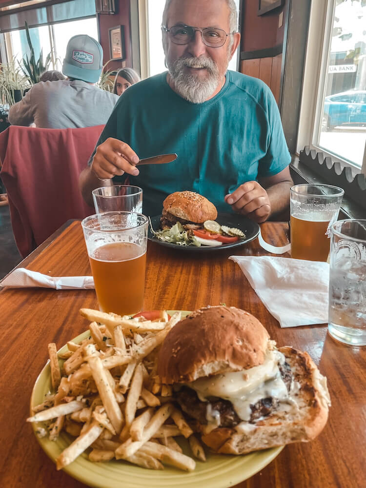 cycling the pacific coast restaurant with burgers